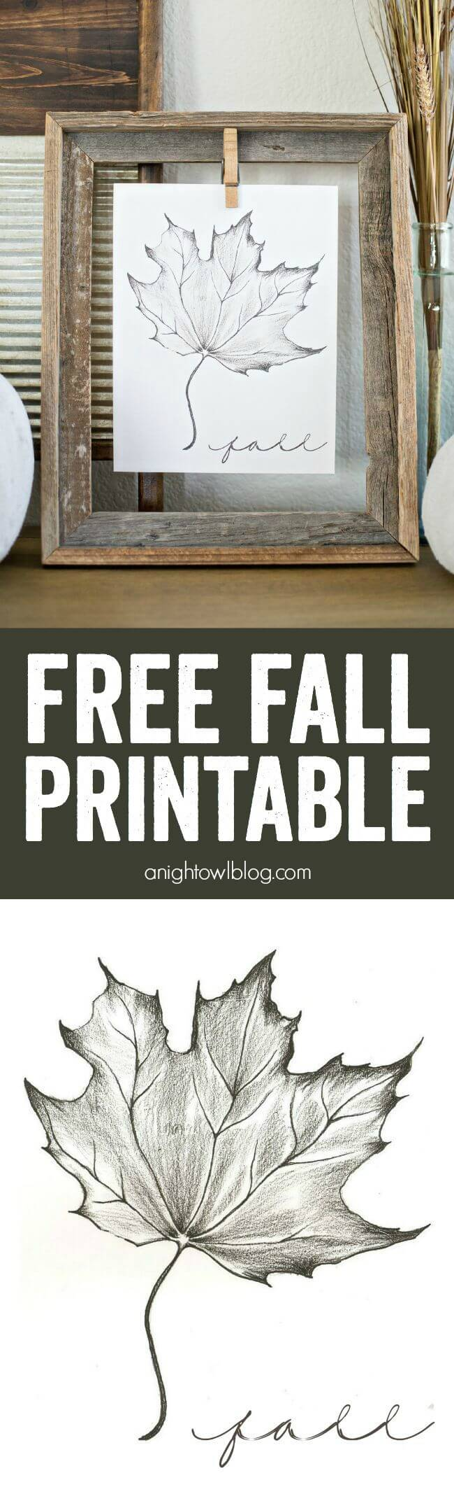 Fall printable | DIY Fall-Inspired Home Decorations With Leaves - FarmFoodFamily