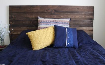 DIY Wood Headboard | DIY Headboard Decoration Ideas for Bedroom