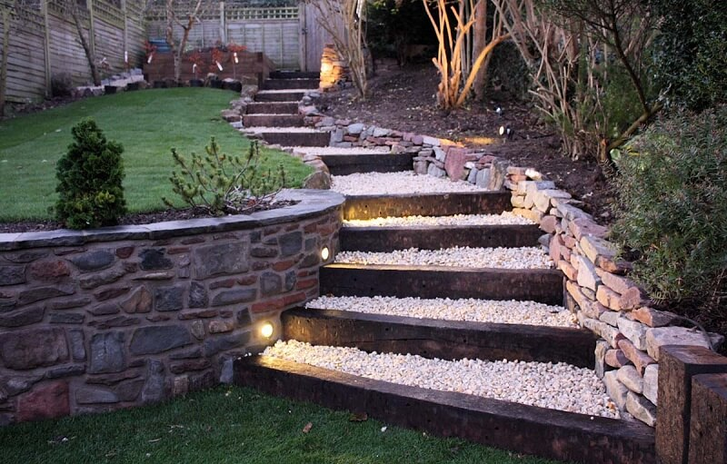Floating Stairs garden | Creative Garden Step & Stair Ideas | FarmFoodFamily