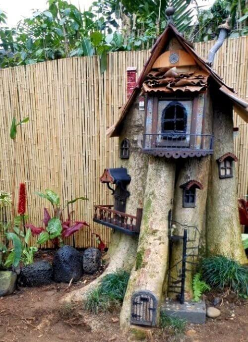 Fairy Garden Magic | Tree Stump Decorating Ideas | How To Decorate a Tree Stump In Landscape