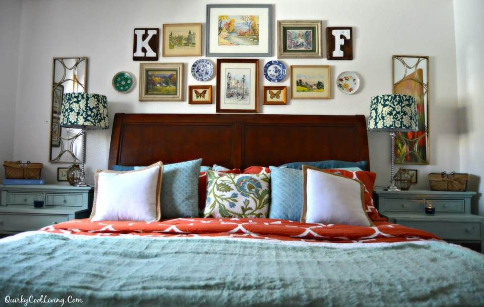 Eclectic Cottage Bedroom