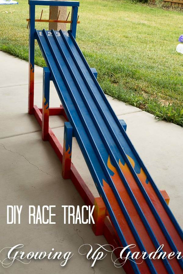DIY Race Track | DIY Race Car Tracks for Kids - FarmFoodFamily