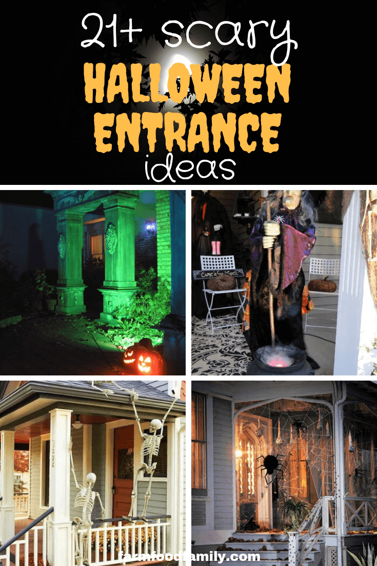 22 Spooky Halloween Outdoor Decorating Ideas for Entrance