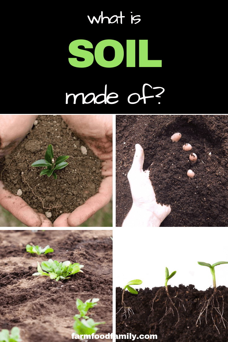 What is soil made of