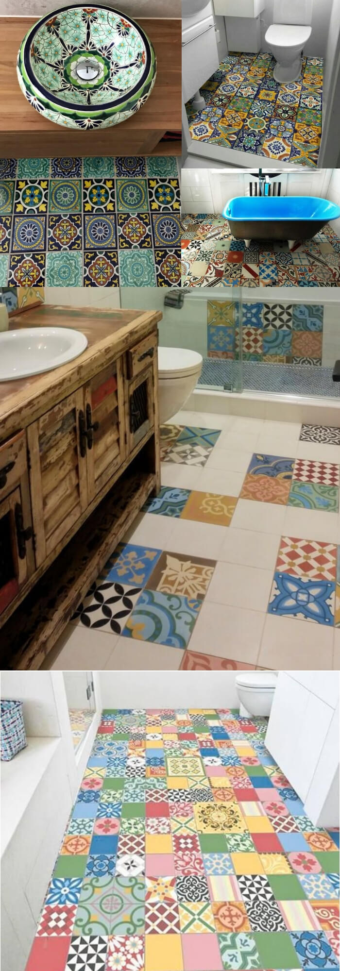 10+ Unique Bathroom Floor Tile Designs & Ideas For 2019