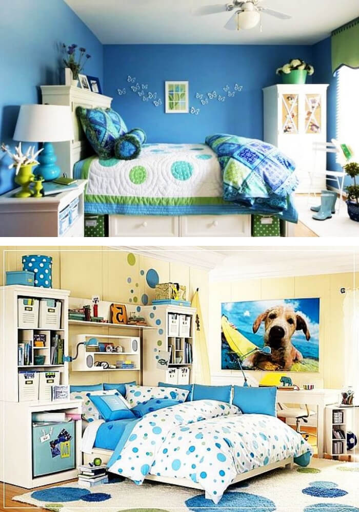 Blue teenage girl rooms | Decorating Teen Bedrooms: Transforming a Child's Room with Teenage Décor - FarmFoodFamily.com