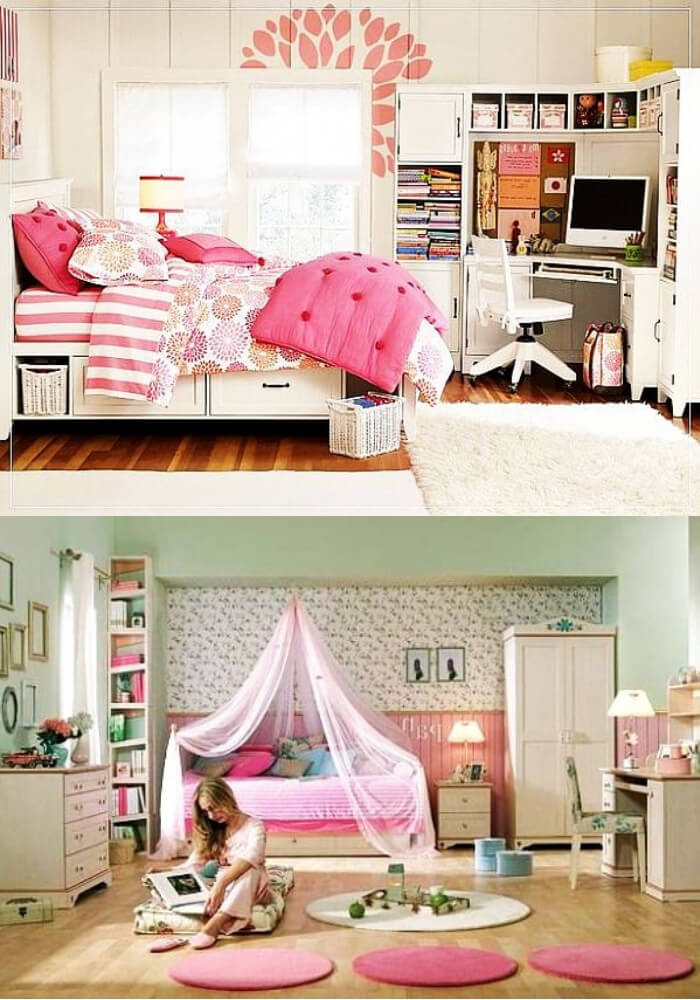 Pink teenage girl rooms | Decorating Teen Bedrooms: Transforming a Child's Room with Teenage Décor - FarmFoodFamily.com