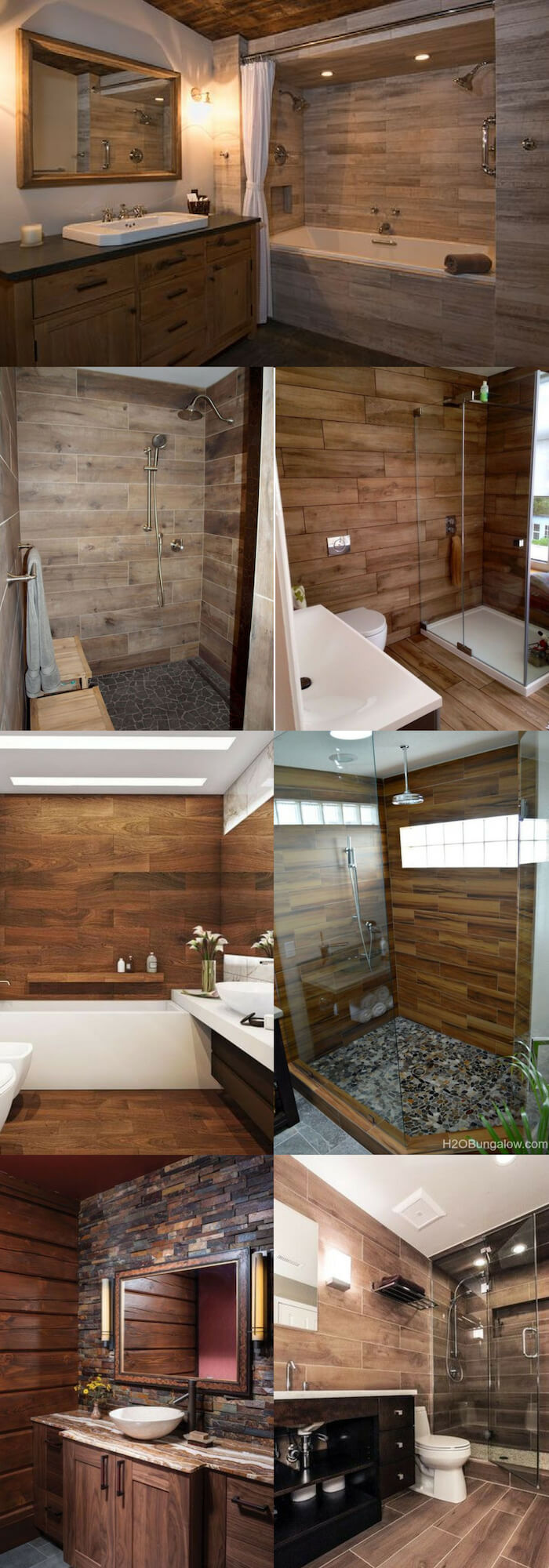 Wood wall | Unique Wall Tile Ideas for Bathroom Design