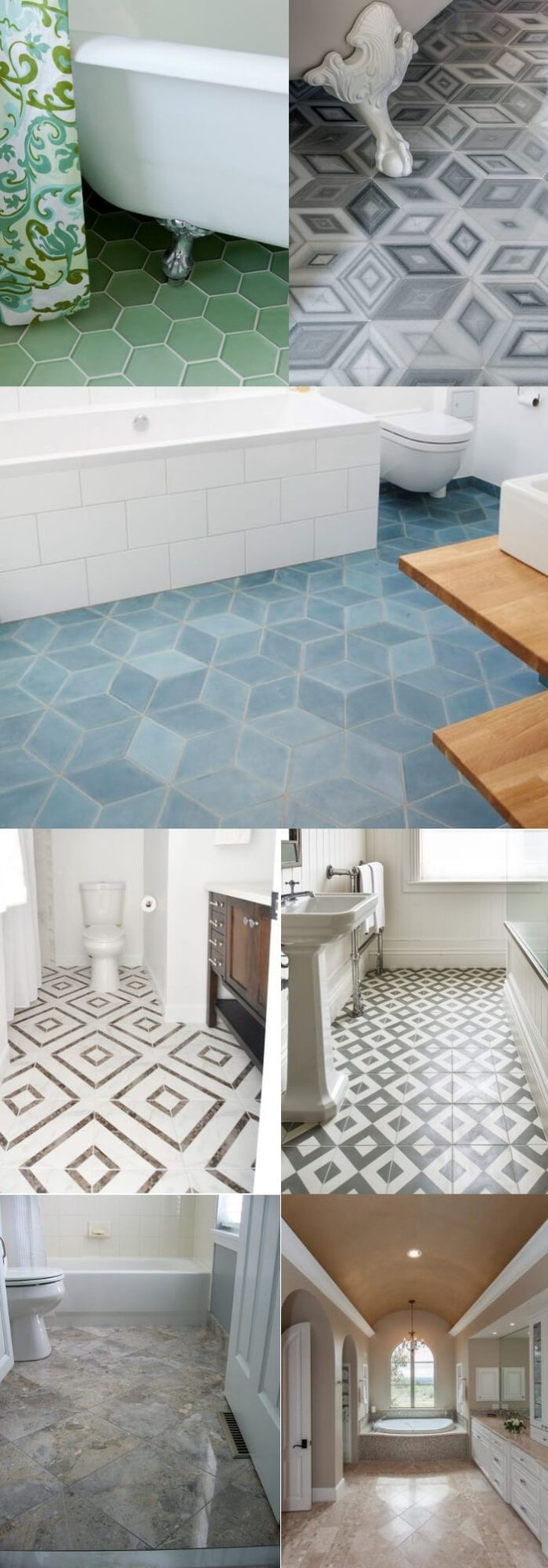 Diamond bathroom floor tile ideas