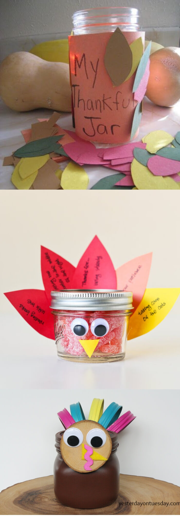 Decorative Jars   Thanksgiving Gifts Kids Can Make - FarmFoodFamily.com