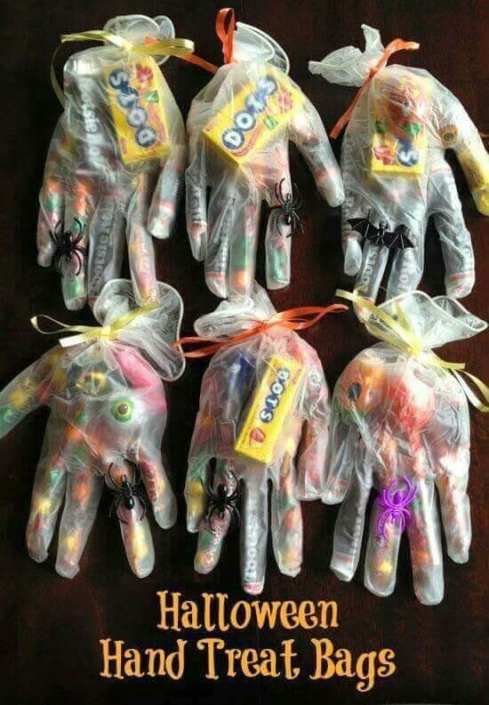 Halloween Hand Treat Bags | Halloween Party Food Ideas | Halloween Party Themes For Adults