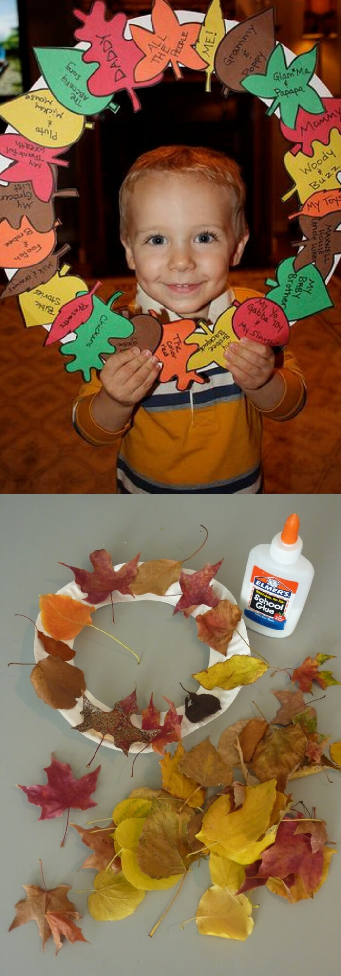 Wreath | Thanksgiving Gifts Kids Can Make - FarmFoodFamily.com