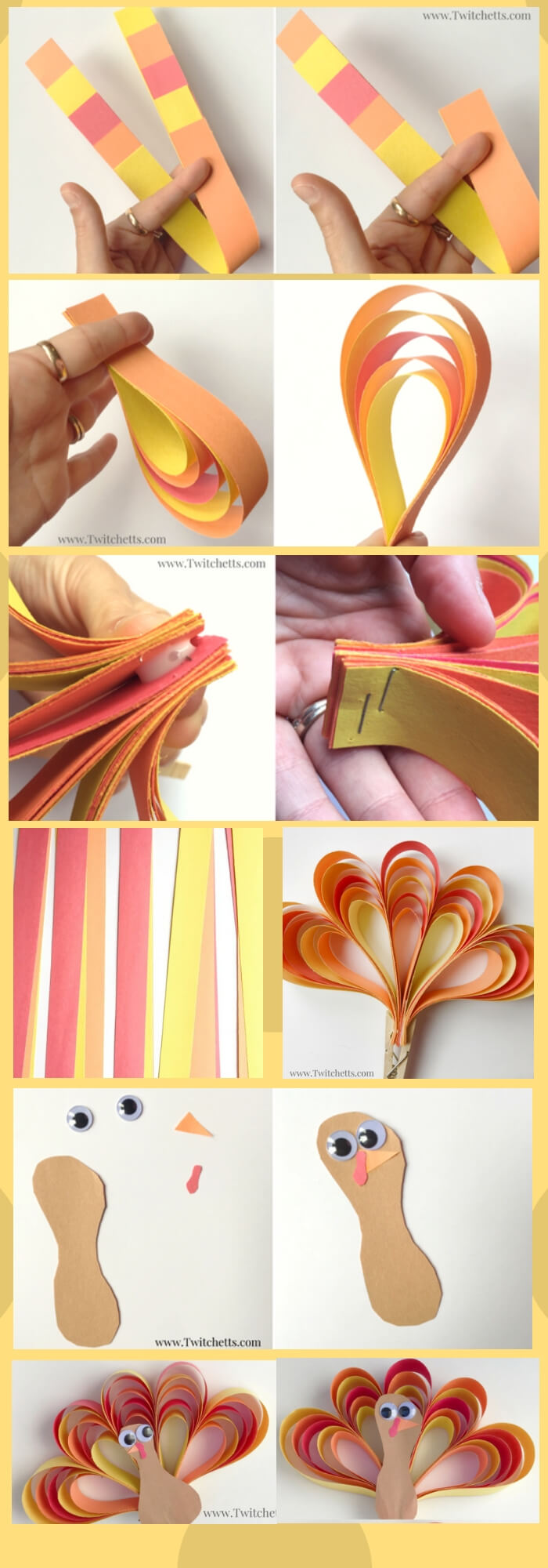 3D construction paper turkey craft | Simple Ideas for Kids' Crafts for Thanksgiving - FarmFoodFamily.com