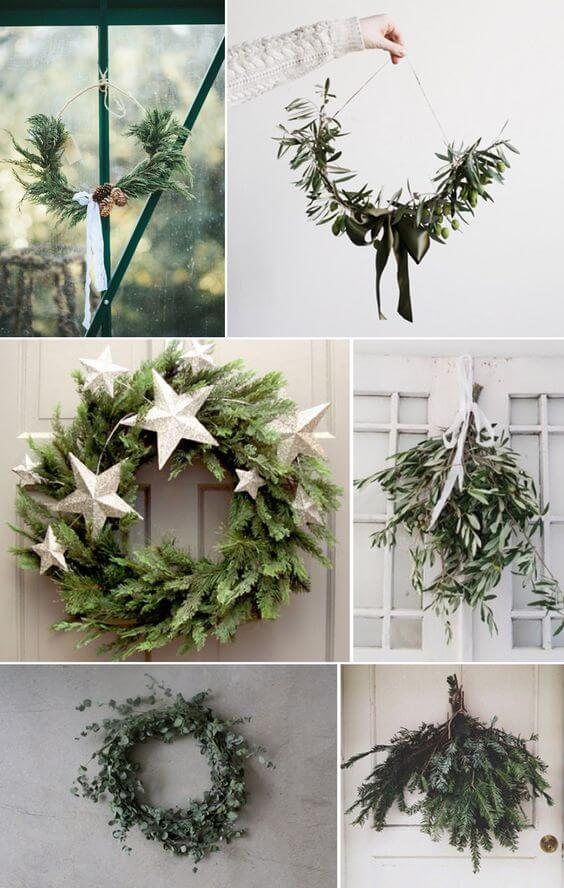 The Simple Alternative to the Christmas Wreath | Creative, Easy, and Inexpensive Christmas Wreaths | Farmfoodfamily.com