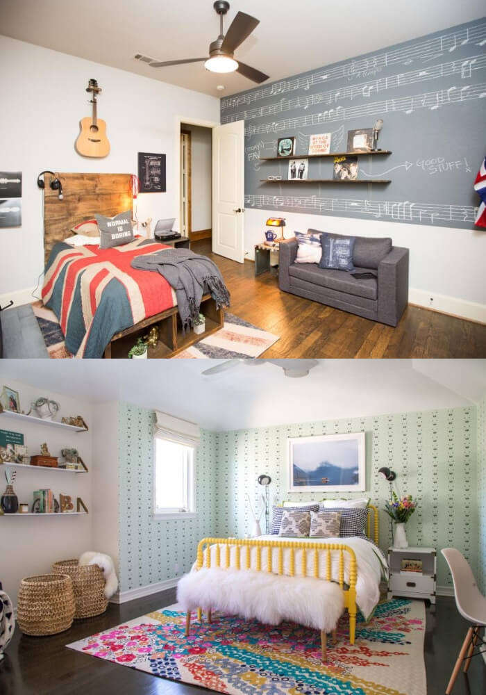 Stylish room | Decorating Teen Bedrooms: Transforming a Child's Room with Teenage Décor - FarmFoodFamily.com