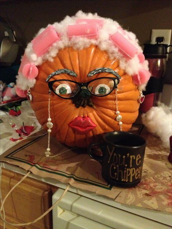 Gradma Pumpkin | No-Carve Pumpkin Decorating Ideas For This Halloween