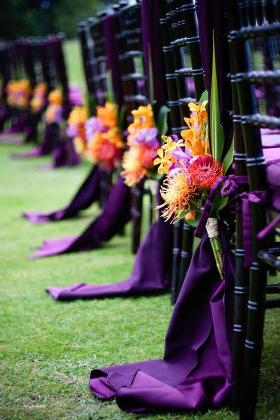Purple orchid Wedding | Halloween Wedding Theme Ideas - Farmfoodfamily.com