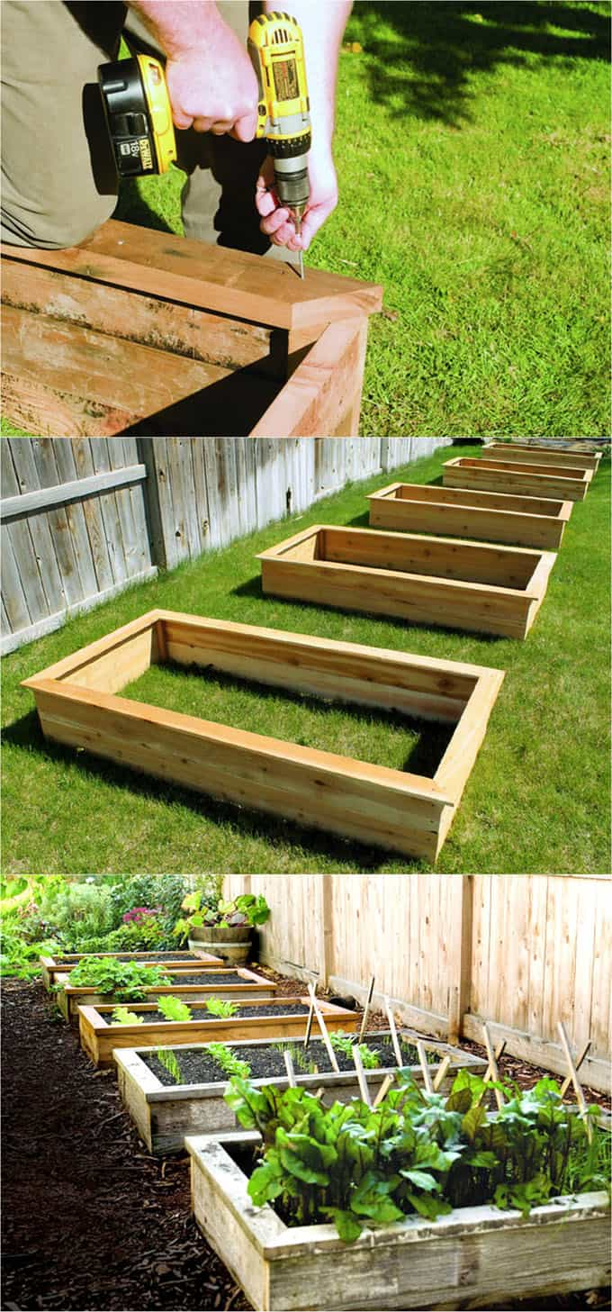 Raised beds with cap | How to Build a Raised Vegetable Garden Bed | 39+ Simple & Cheap Raised Vegetable Garden Bed Ideas - farmfoodfamily.com
