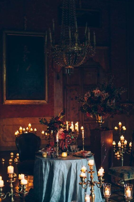 Candlelight and weddings | Halloween Wedding Theme Ideas - Farmfoodfamily.com
