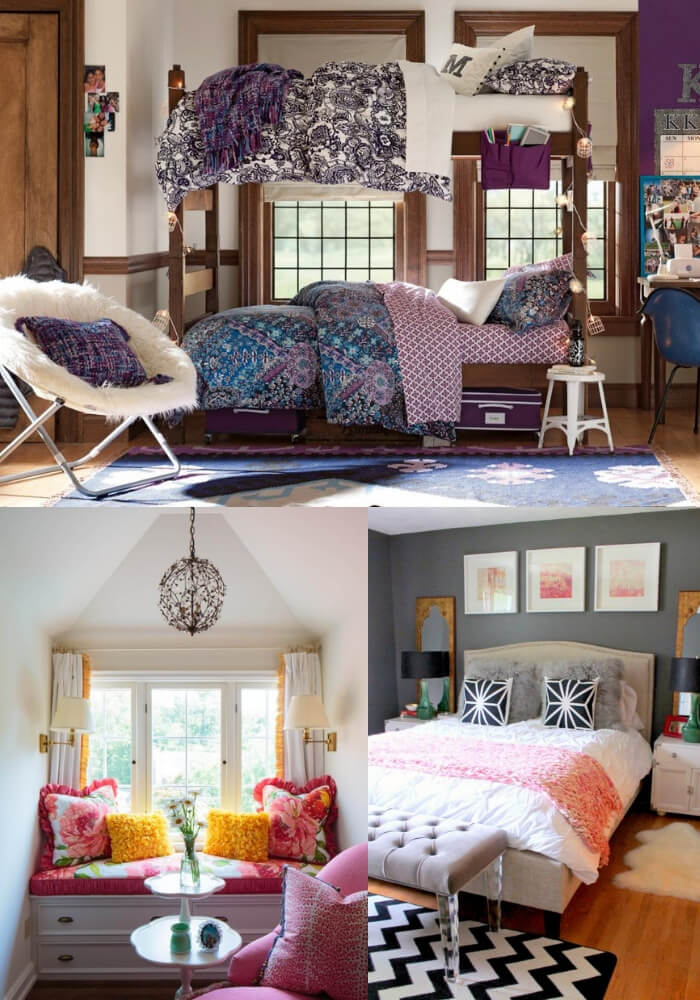 Colorful + electric | Decorating Teen Bedrooms: Transforming a Child's Room with Teenage Décor - FarmFoodFamily.com