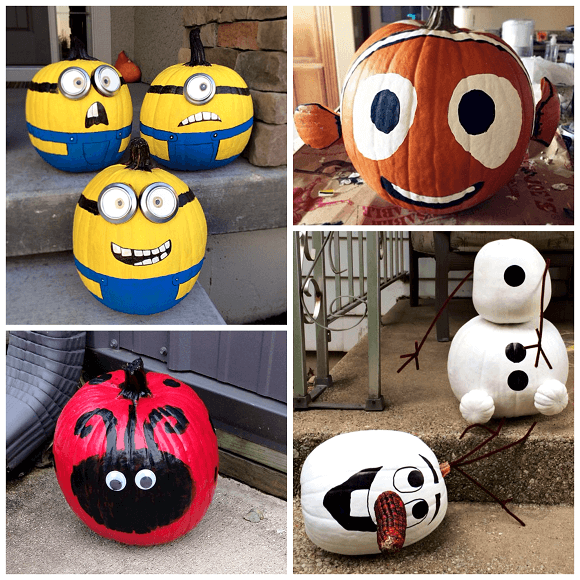 Minion Pumpkins | No-Carve Pumpkin Decorating Ideas For This Halloween