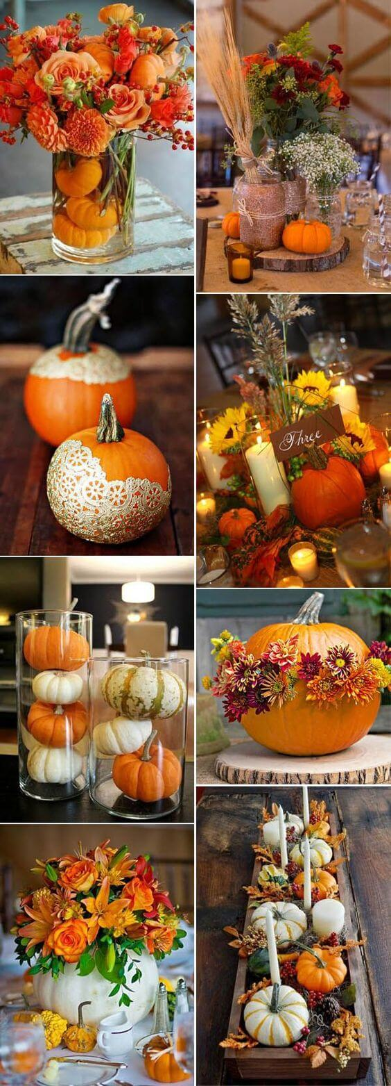 Fall Wedding Centerpieces | Best Thanksgiving Centerpieces