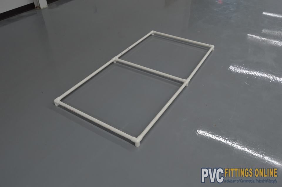 Top frame of cover | How to Build a PVC Pipe Garden Cover