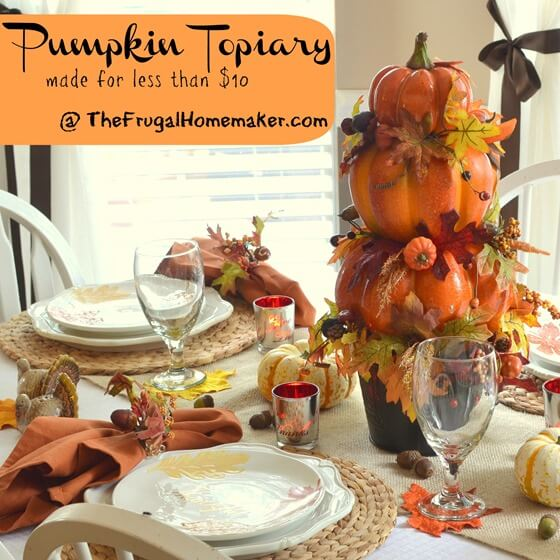 Fall Pumpkin Topiary | Best Thanksgiving Centerpieces