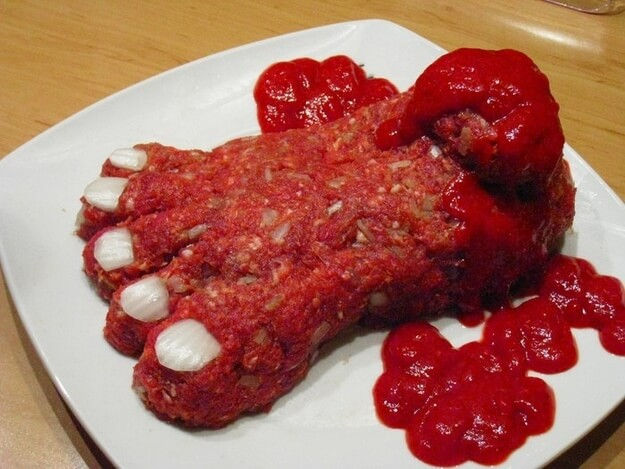Severed Foot Meatloaf | Halloween Party Food Ideas | Halloween Party Themes For Adults