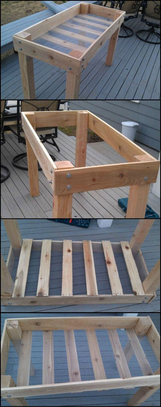 DIY Raised herb planter | How to Build a Raised Vegetable Garden Bed | 39+ Simple & Cheap Raised Vegetable Garden Bed Ideas - farmfoodfamily.com