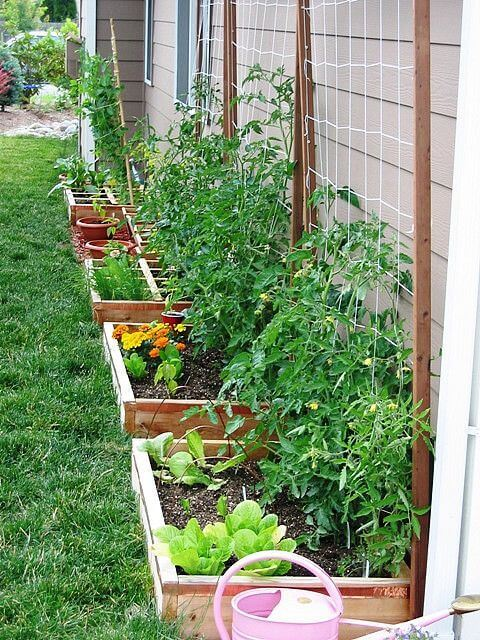 Small Raised Beds for suburban garden | How to Build a Raised Vegetable Garden Bed | 39+ Simple & Cheap Raised Vegetable Garden Bed Ideas - farmfoodfamily.com