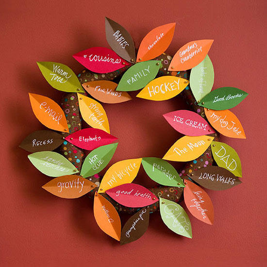 Thanksgiving Wreath | Thanksgiving Gifts Kids Can Make - FarmFoodFamily.com