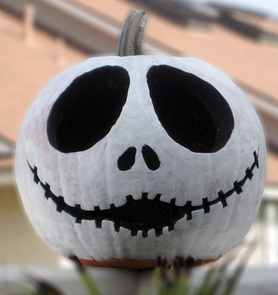 Jack Skellington Pumpkin | No-Carve Pumpkin Decorating Ideas For This Halloween