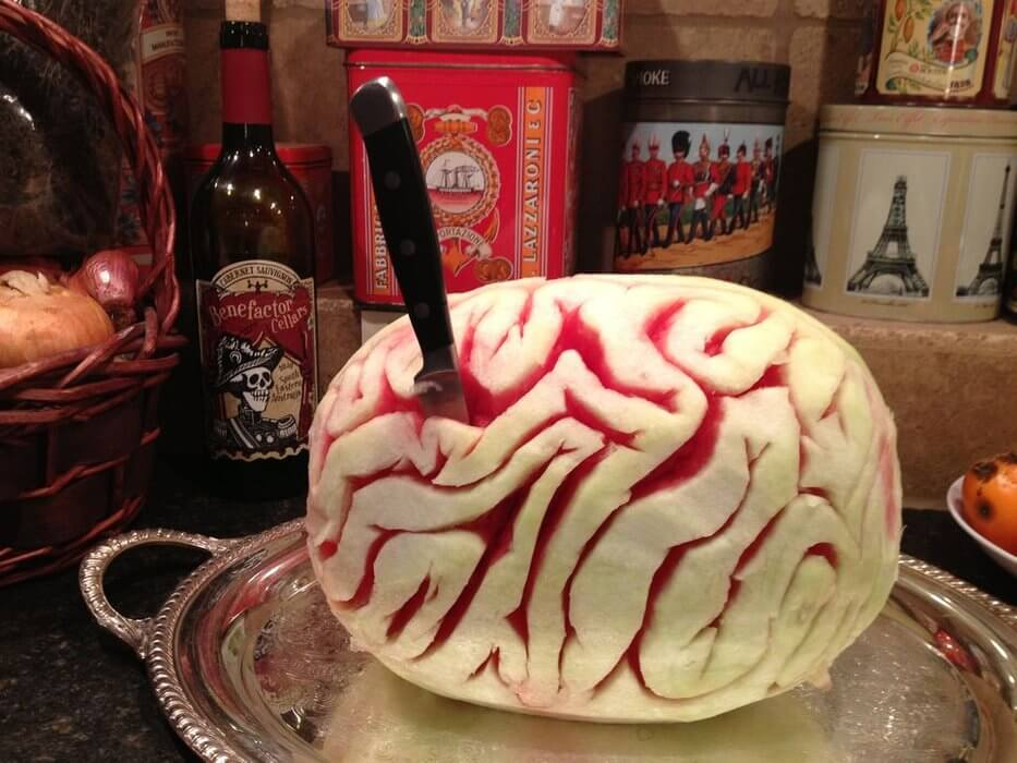 Watermelon Brain | Halloween Party Food Ideas | Halloween Party Themes For Adults
