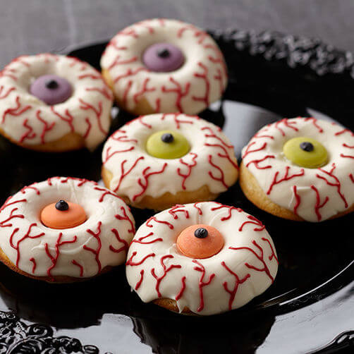 Eye Scare You Halloween Donuts | Halloween Inspired Recipes: How to Make Simple Halloween Party Food