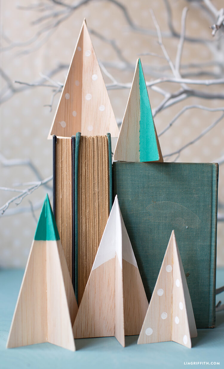 Christmas Trees Balsa Wood