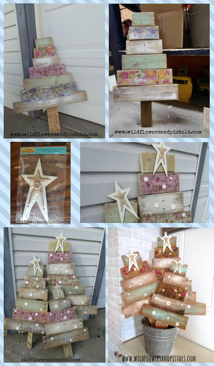 Pallet Wood Christmas Trees | Cute and Easy Christmas Ornament Ideas
