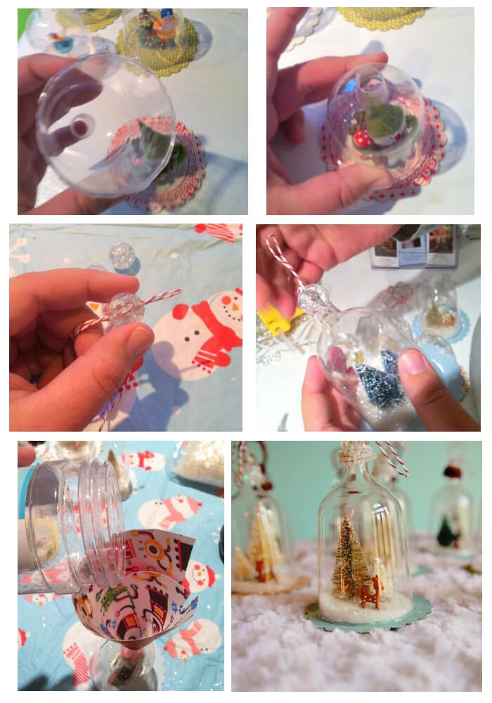 Vintage Inspired Bell Jar Ornaments   Cute and Easy Christmas Ornament Ideas