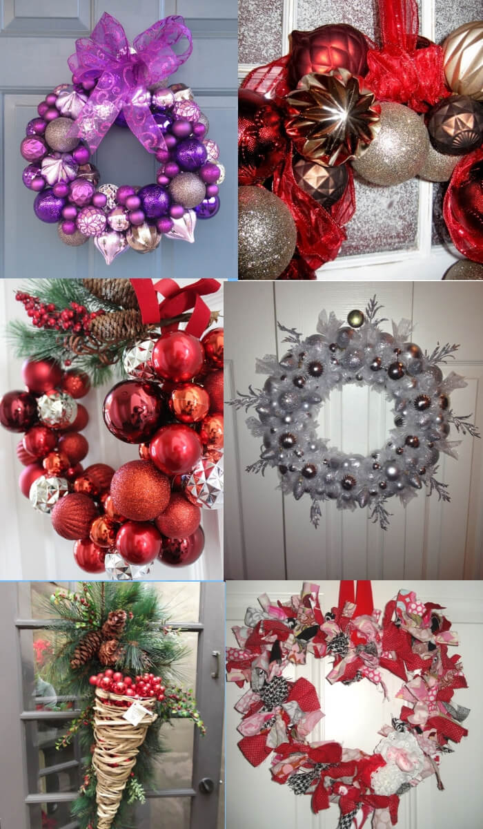 Wreath wire hangers   Cute and Easy Christmas Ornament Ideas