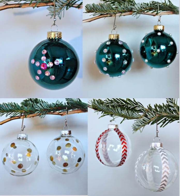 Clear ball Christmas ornament | Cute and Easy Christmas Ornament Ideas