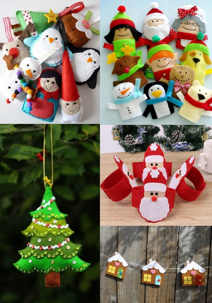 Felt Christmas ornaments | Cute and Easy Christmas Ornament Ideas