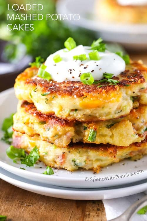 Mashed Potato Patties | Ideas For Thanksgiving Leftovers | FarmFoodFamily.com