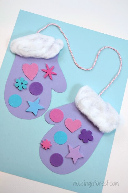 Winter Mitten Craft for Preschoolers | Christmas Craft Ideas for Preschoolers