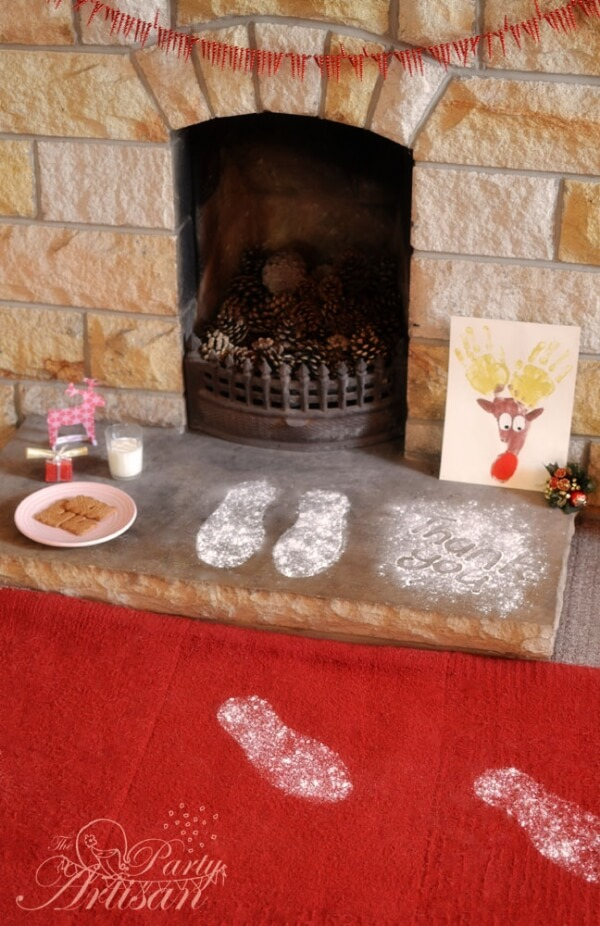 Santa's Footprints | Last Minute Christmas Ideas and Hacks