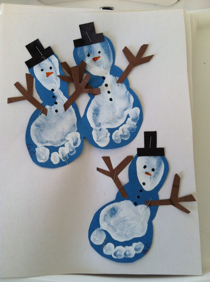 Snowmen Feet | Christmas Craft Ideas for Preschoolers
