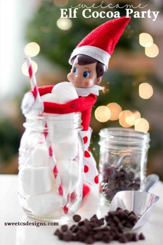 Elfie Cocoa Party | Fun & Simple Elf on Shelf Ideas For This Christmas
