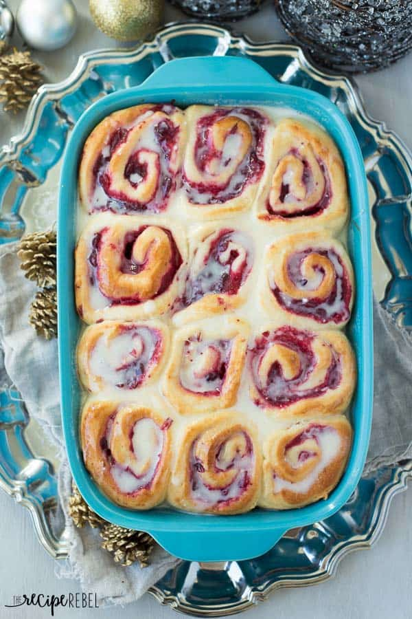 White Chocolate Cranberry Sweet Rolls