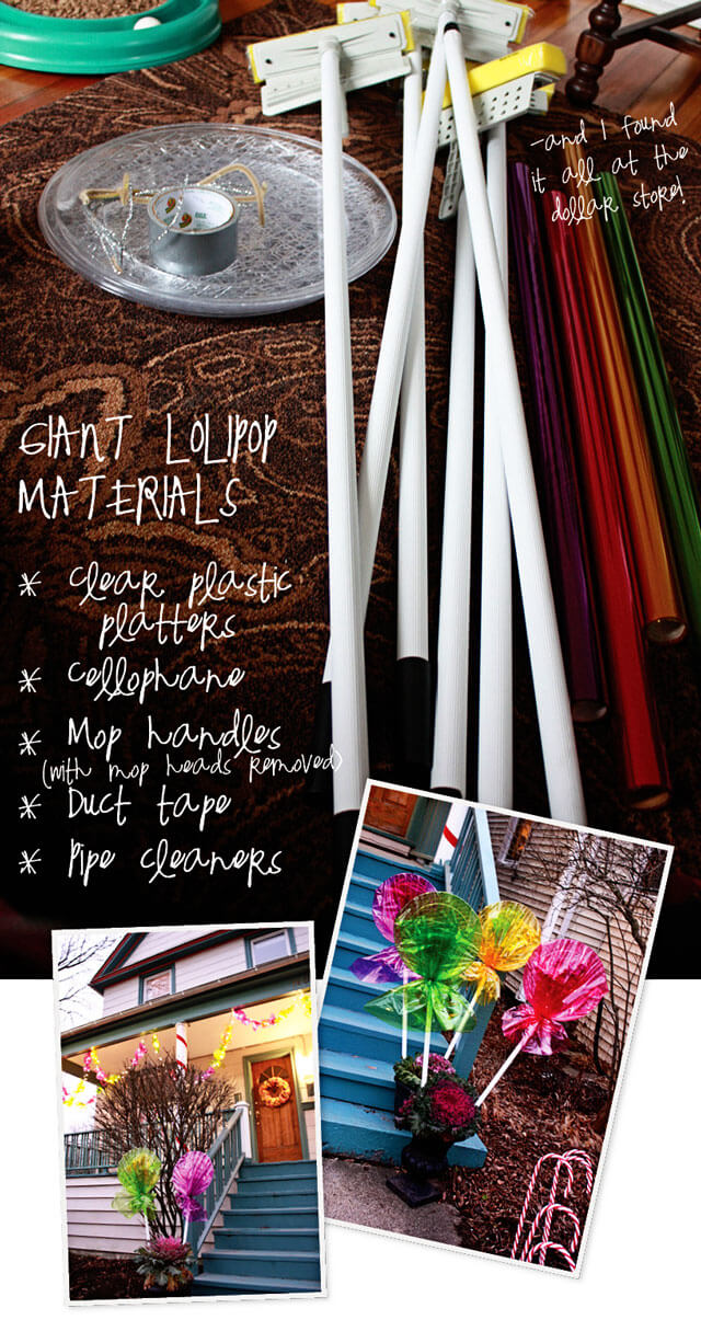 The candy lights for Christmas | Last Minute Christmas Ideas and Hacks