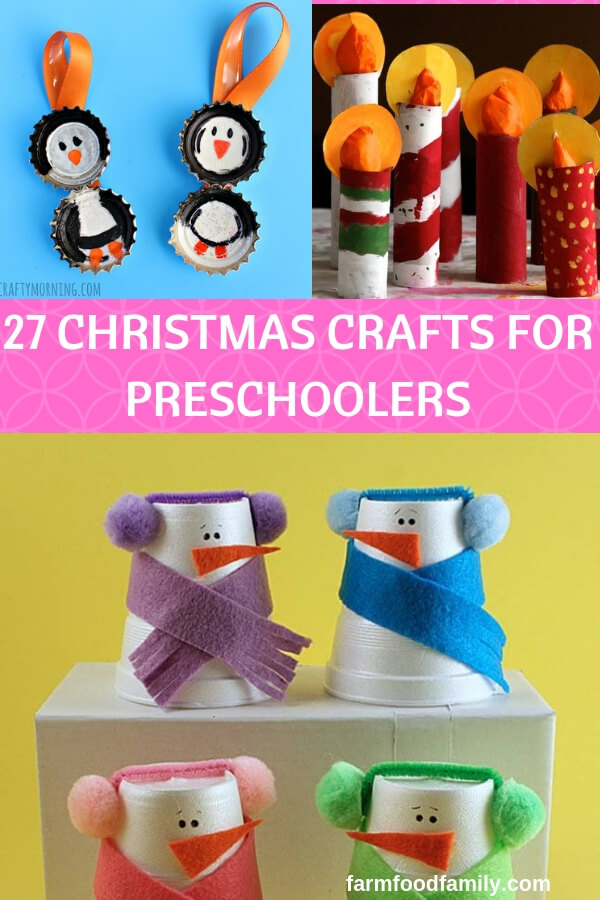 27 Fun Christmas Craft Ideas For Preschoolers 2019 Farmfoodfamily