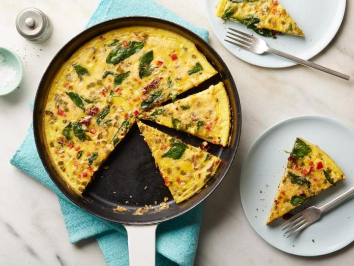 Veggie Packed Frittata | Ideas For Thanksgiving Leftovers | FarmFoodFamily.com